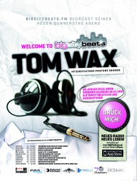 Tom Wax sendet auf BigCityBeats