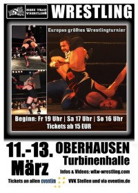 wXw Wrestling: Das 16 Carat Gold Tournament 2011 in Oberhausen - Plakat