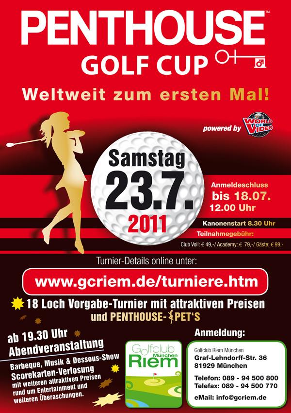 Penthouse_Golfturnier_2011 Plakat