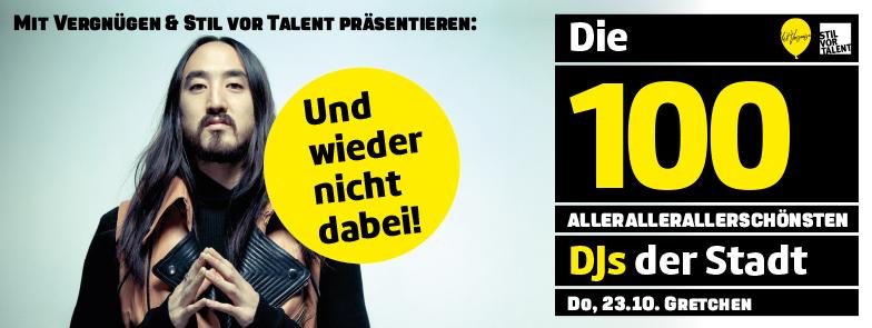 DIE 100 ALLERALLERALLERSCHÖNSTEN DJS DER STADT