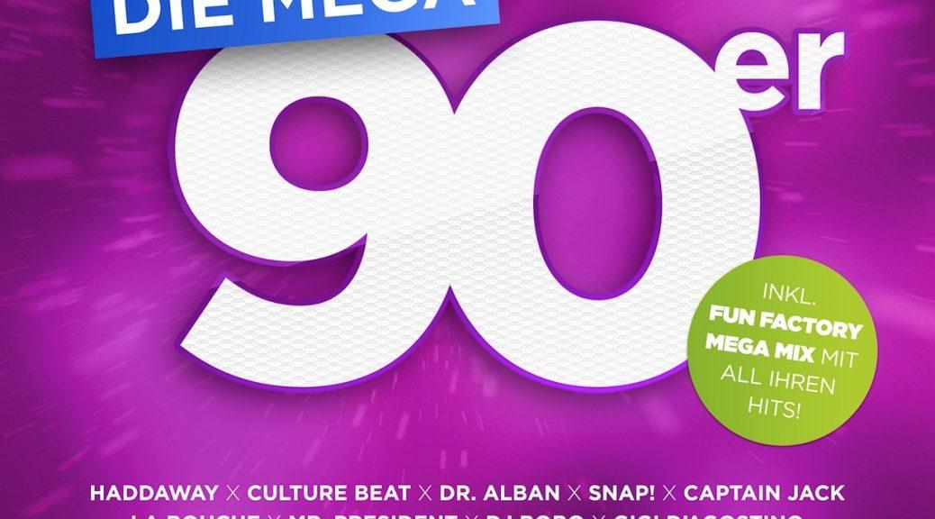 """Various Artists - """"Die Mega 90er-Das Album Deines Lebens""""  (Control/Edel)"""