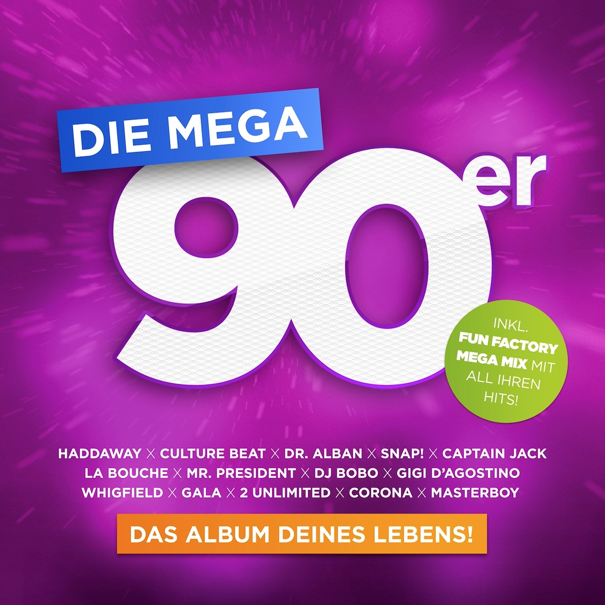 "Various Artists - ""Die Mega 90er-Das Album Deines Lebens""   (Kontor Records)"