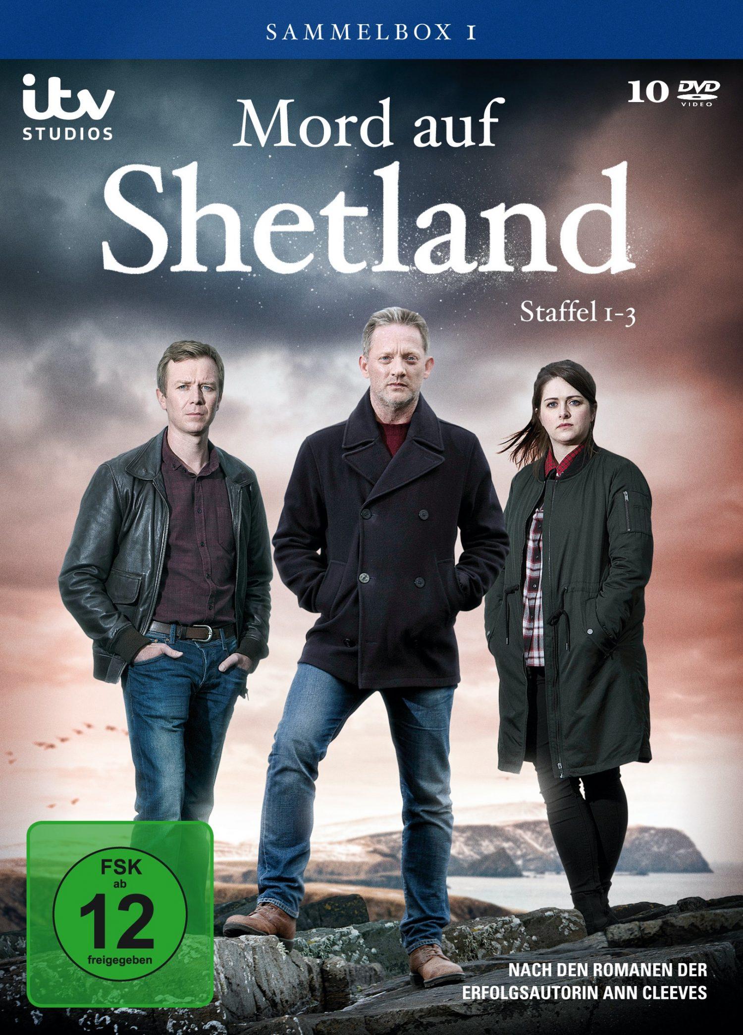 Knifflige Morde auf den Inseln im rauen Nordatlantik MORD AUF SHETLAND – Staffel 1-3 als DVD-Sammelbox